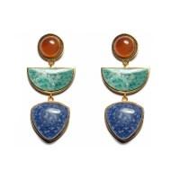 Lyst - Lizzie fortunato Beldi Earrings in Blue