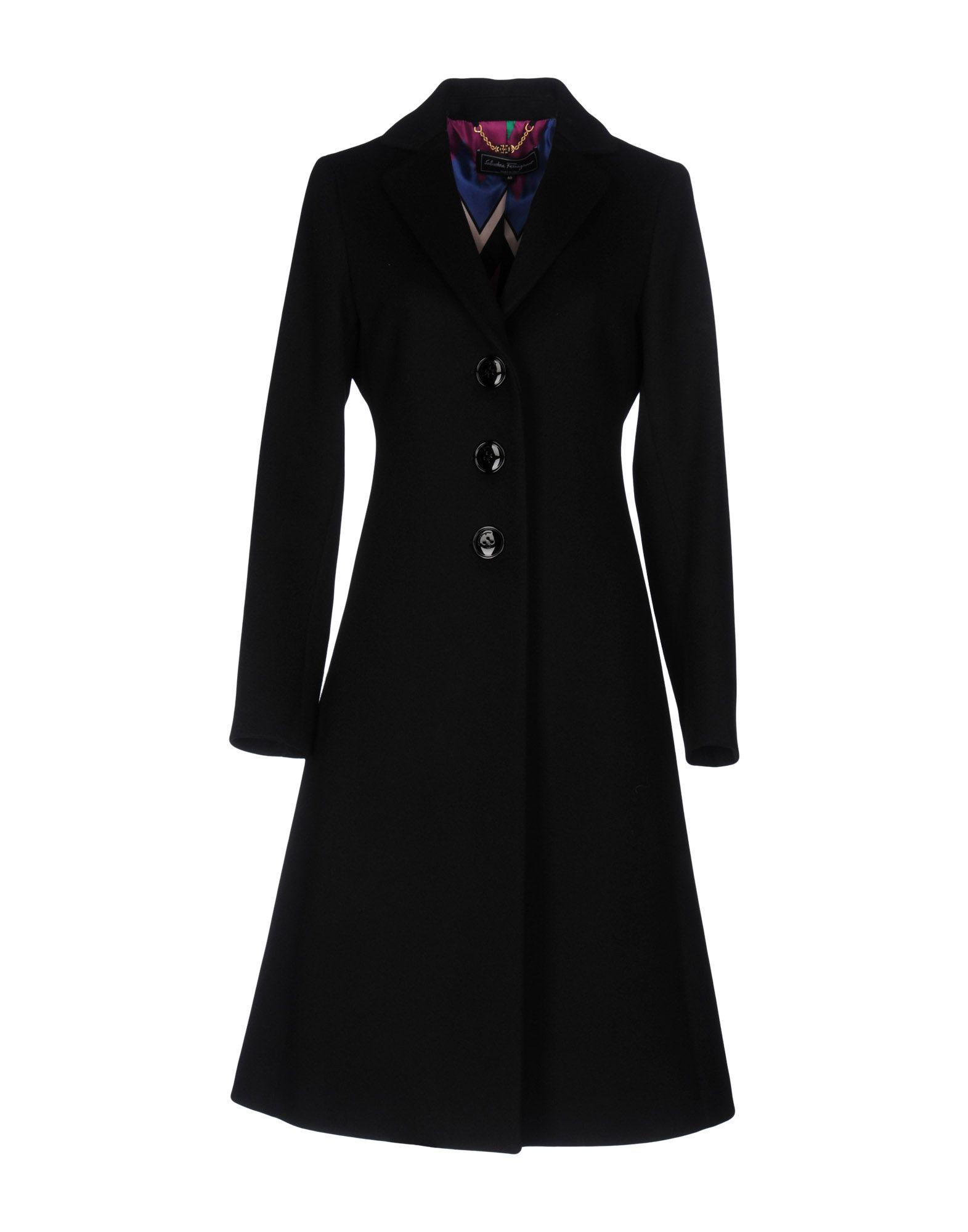 Lyst  Ferragamo Coat in Black