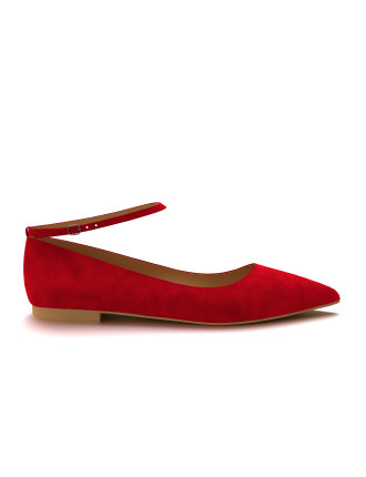 Shoes of Prey Allie Pointed Toe Flat with ankle strap Shoes of Prey Allie Pointed Toe Flat with ankle strap