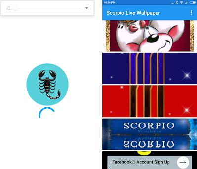 Scorpio Live Wallpaper Preview Screenshot