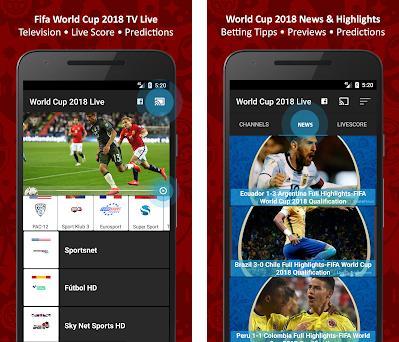 World Cup 2018 TV Live - Football TV - Live Scores 2 0 9 apk