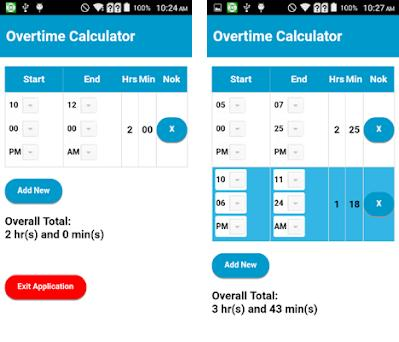 overtime calculator 1 1 apk download for android com noknokware