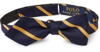 Lyst - Polo Ralph Lauren Striped Silk Repp Bow Tie in Blue ...