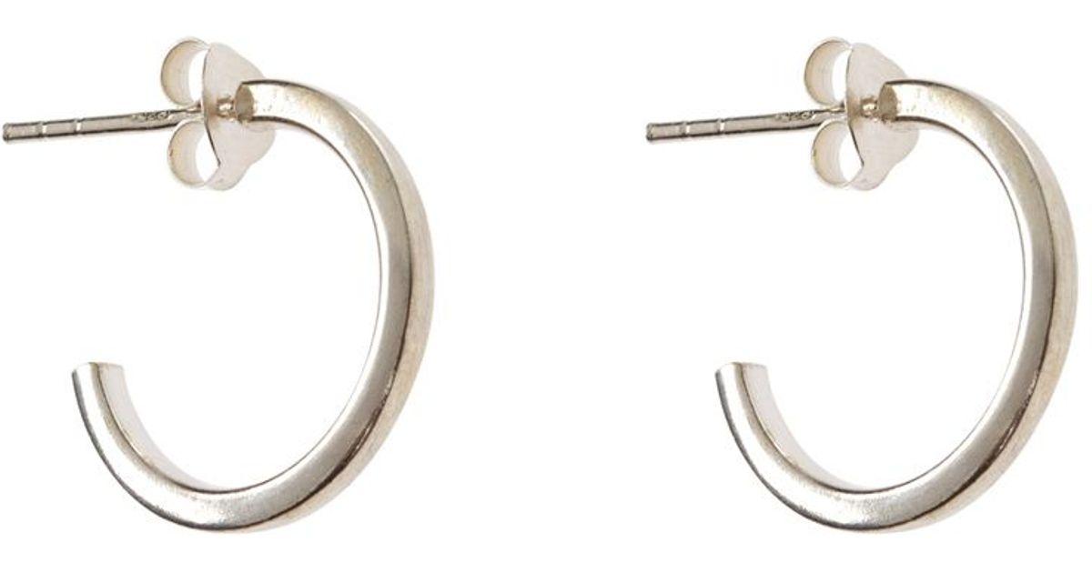 Accessorize Sterling Silver Small Hoop Earrings in