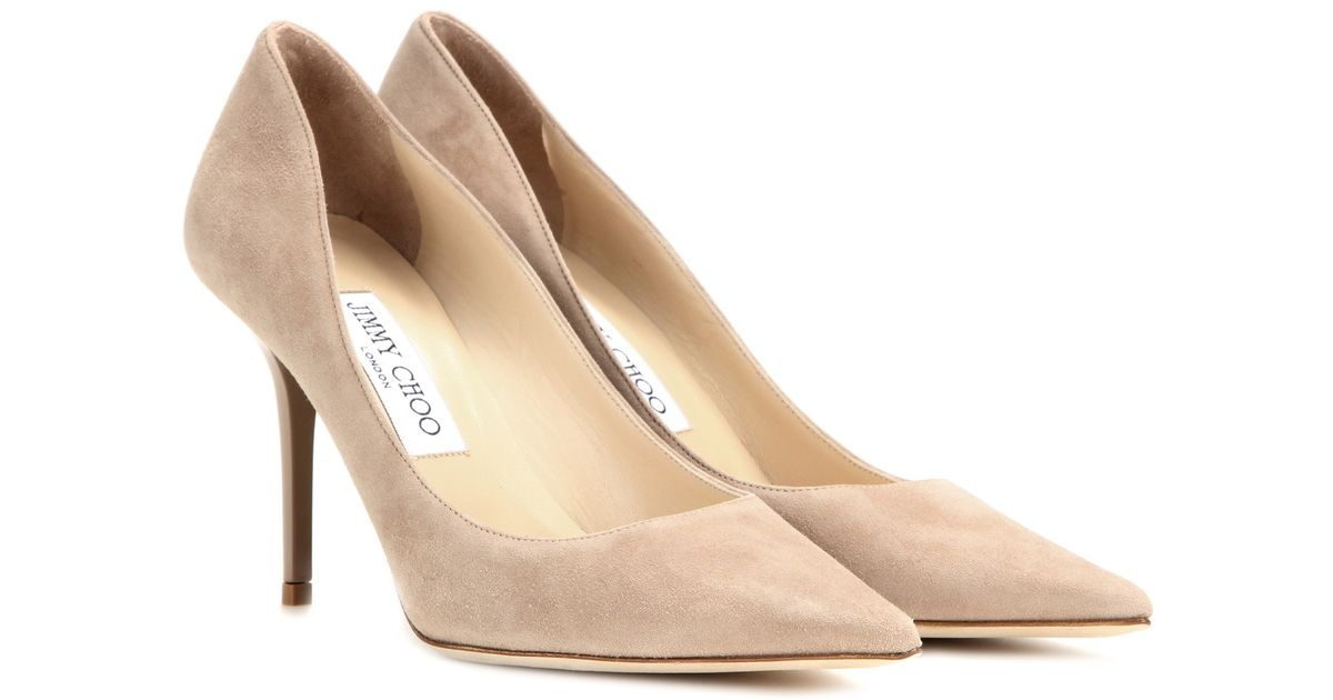 72f9b0f28 Lyst Jimmy Choo Agnes Suede Pumps In Natural
