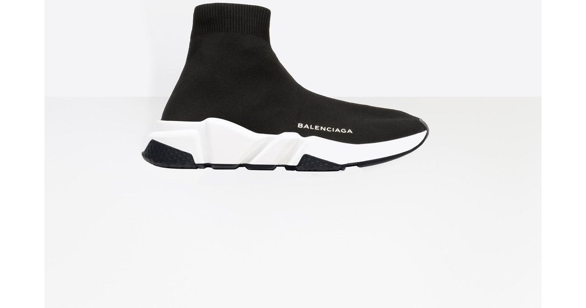 3ecf6f9f2e1a ... where to buy balenciaga speed knit sock sneakers in black for men lyst  27e01 caac5