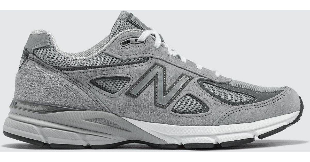 New Balance Leather Made In Usa 990 V4 in Grey (Gray) for Men - Lyst