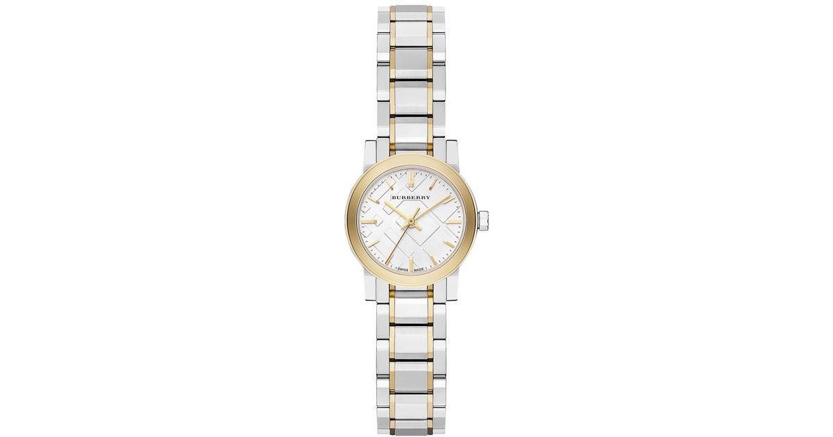 Burberry Watch, Women's Swiss Two-tone Stainless Steel