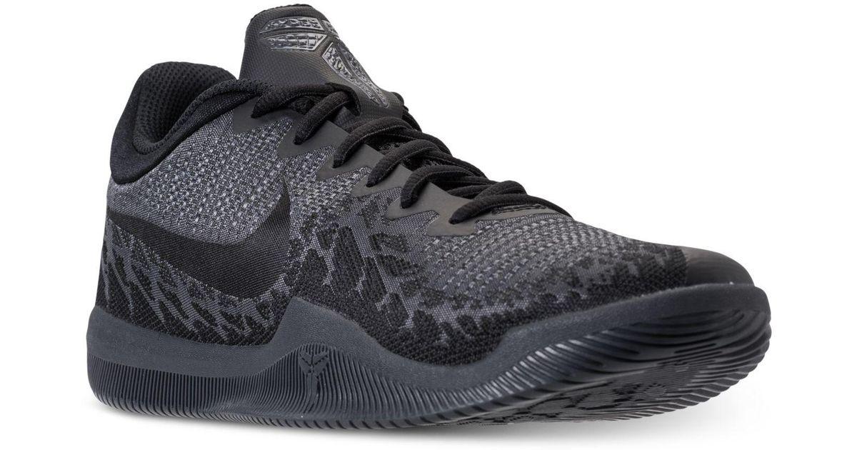 Lyst  Nike Mens Kobe Mamba Rage Basketball Sneakers From Finish Line in Black for Men
