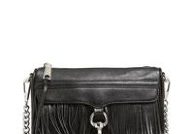 Rebecca Minkoff Mini Black Silver Cross Body Bag On Sale