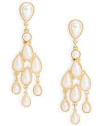 Catherine Stein Faux Pearl Chandelier Earrings Lyst