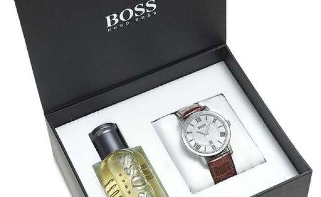Boss Men S Ambassador Brown Leather Strap Watch