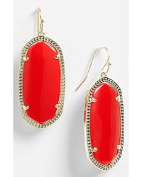 Kendra scott 'elle' Drop Earrings in Red