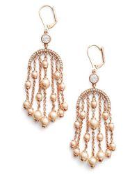 Kate spade 'pearls Of Wisdom' Chandelier Earrings - Blush ...