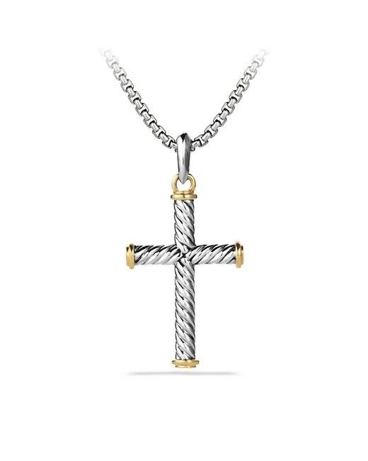 David yurman Cable Cross With 18k Gold in Metallic for Men