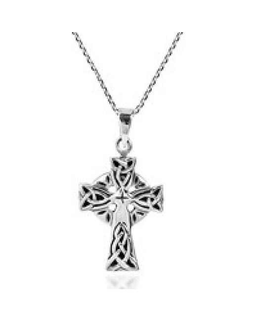 Aeravida Religion Celtic Triquetra Knot Cross .925