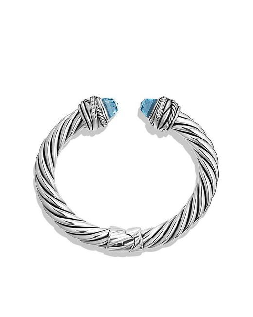 David yurman Cable Classic Crossover Bracelet With Blue