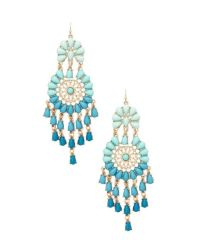 Forever 21 Beaded Chandelier Earrings in Blue (Turquoise ...