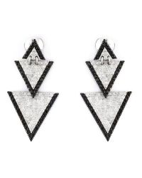Elise dray Drop Triangle Diamond Earrings in Metallic