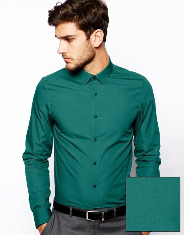Green Long Sleeve Shirt Men