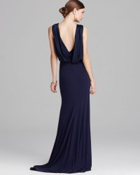 Shawl Collar Evening Gown  Fashion dresses