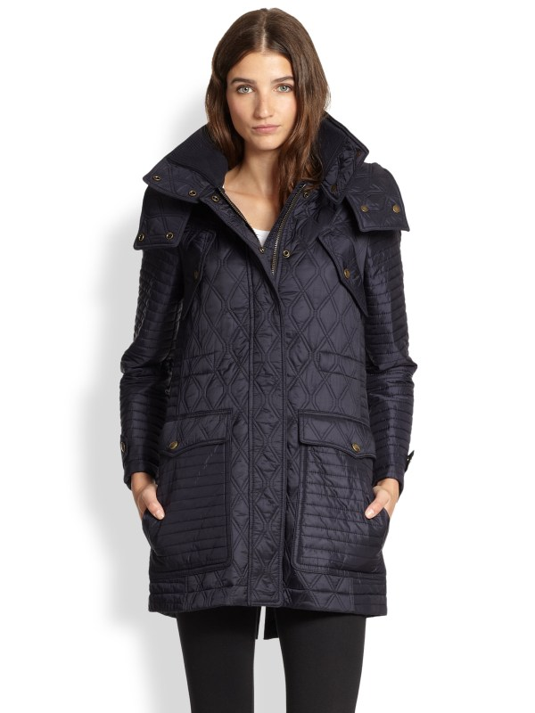 Lyst - Burberry Brit Bosworth Quilted Anorak In Blue