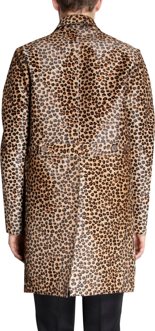 Burberry Prorsum Leopard Print Coat In Animal Men