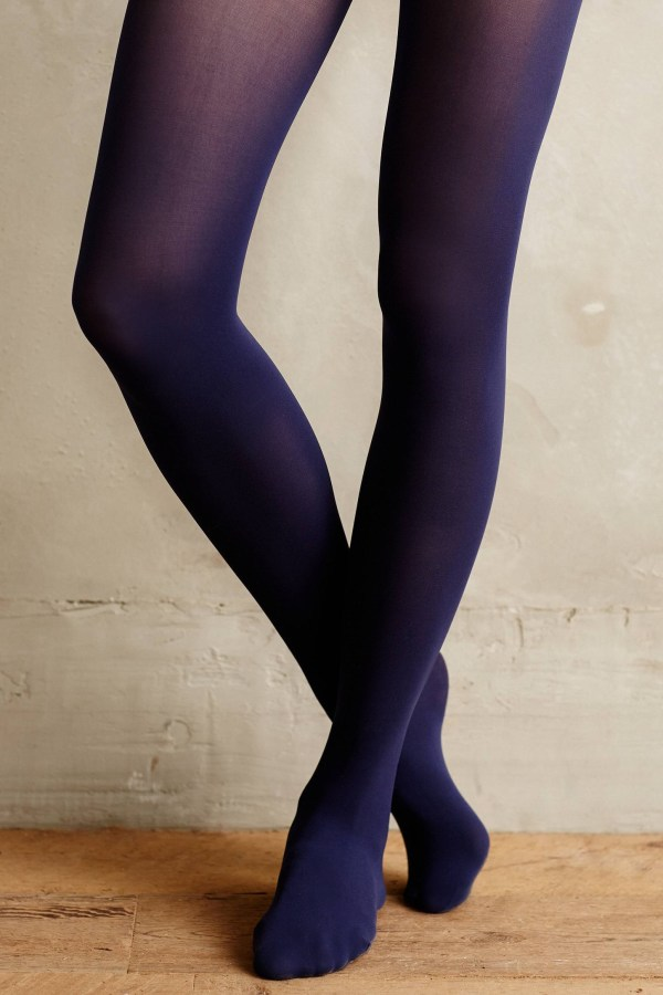 Pure Good Opaque Tights In Blue Lyst