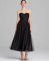 Ml Monique Lhuillier Dress Strapless Tulle Tea Length in