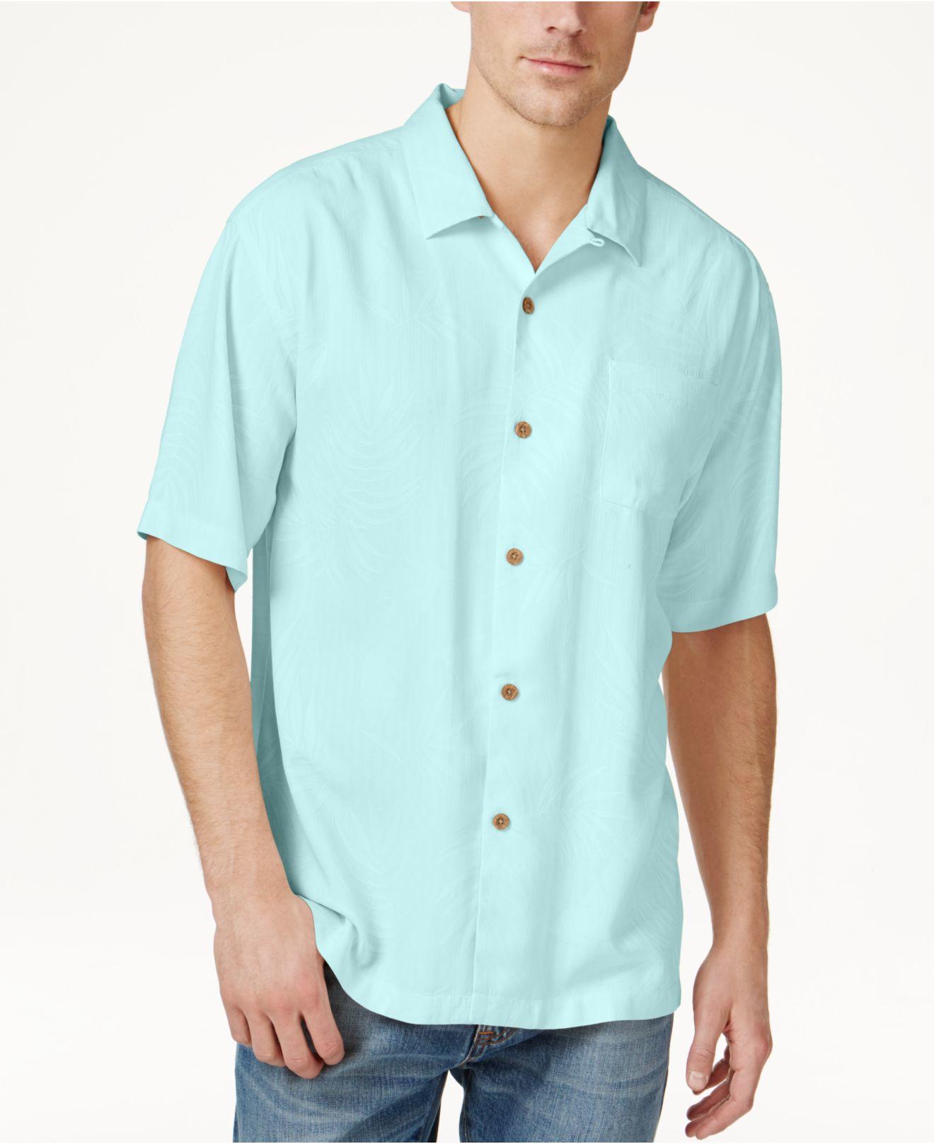 Tommy bahama Mens Tiki Palms Silk Shortsleeve Shirt A