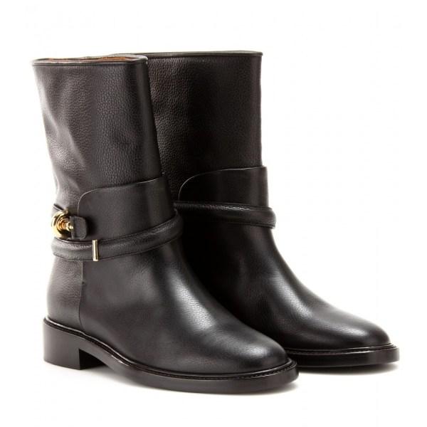 Balenciaga Leather Biker Boots In Black - Lyst