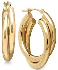 Macy's Double Overlapped Hoop Earrings In 14k Gold in Gold ...