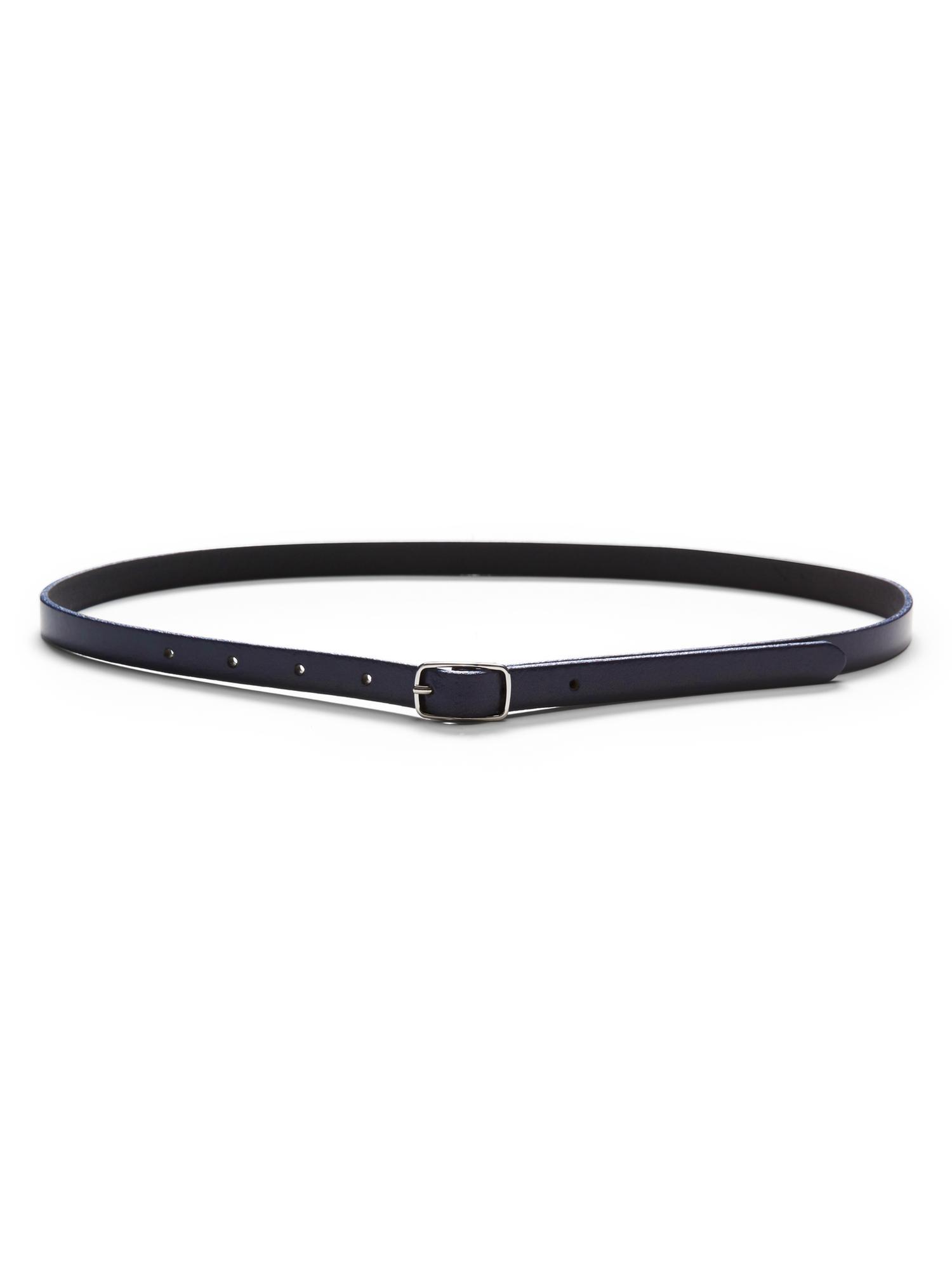 Banana Republic Centerbar Italian Leather Skinny Belt In