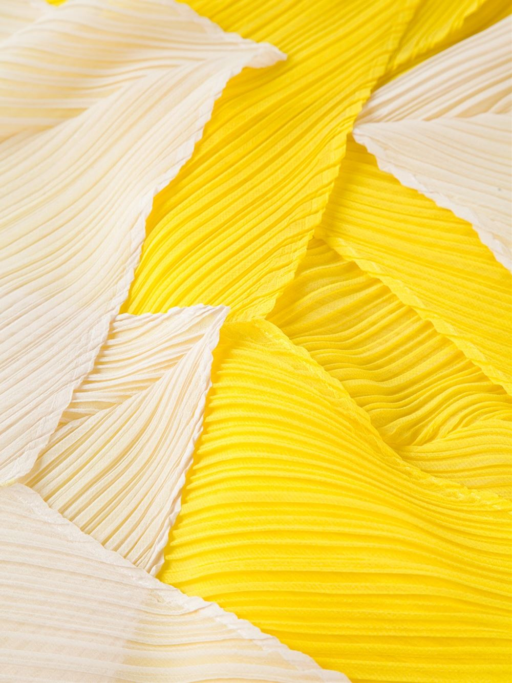 Lyst  Pleats Please Issey Miyake Pleated Scarf in Yellow