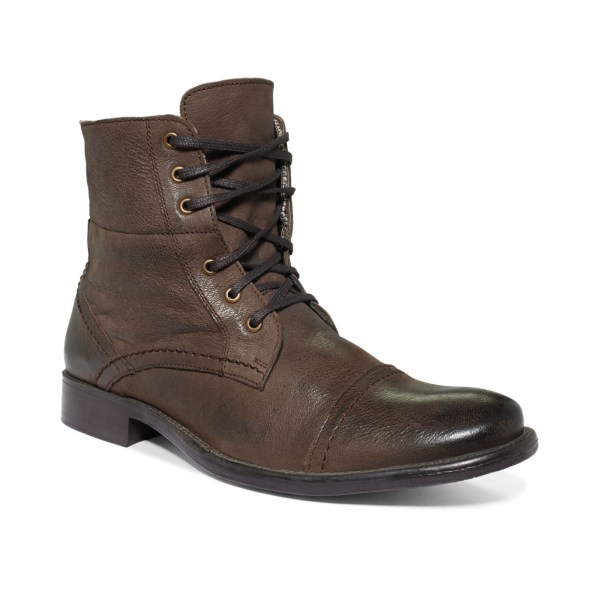 Hush Puppies Brock Cap Toe Boots In Brown Men - Lyst