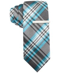 Alfani Stevie Plaid Skinny Tie, Only At Macy's in ...