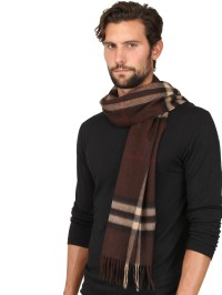 Lyst - Burberry Giant Check Pattern Cashmere Scarf in ...