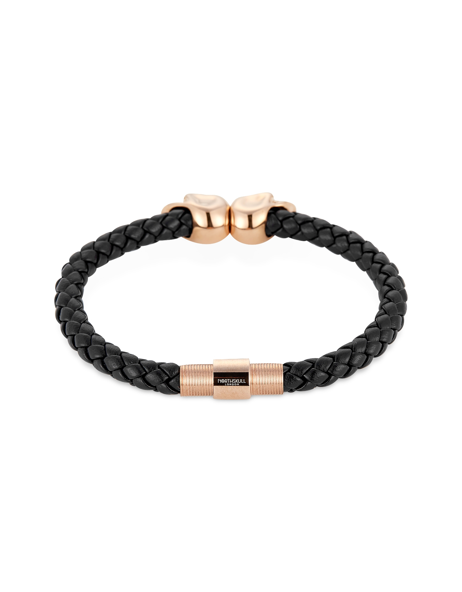 Northskull Navy Blue Nappa Leather 18kt Rose Gold Twin