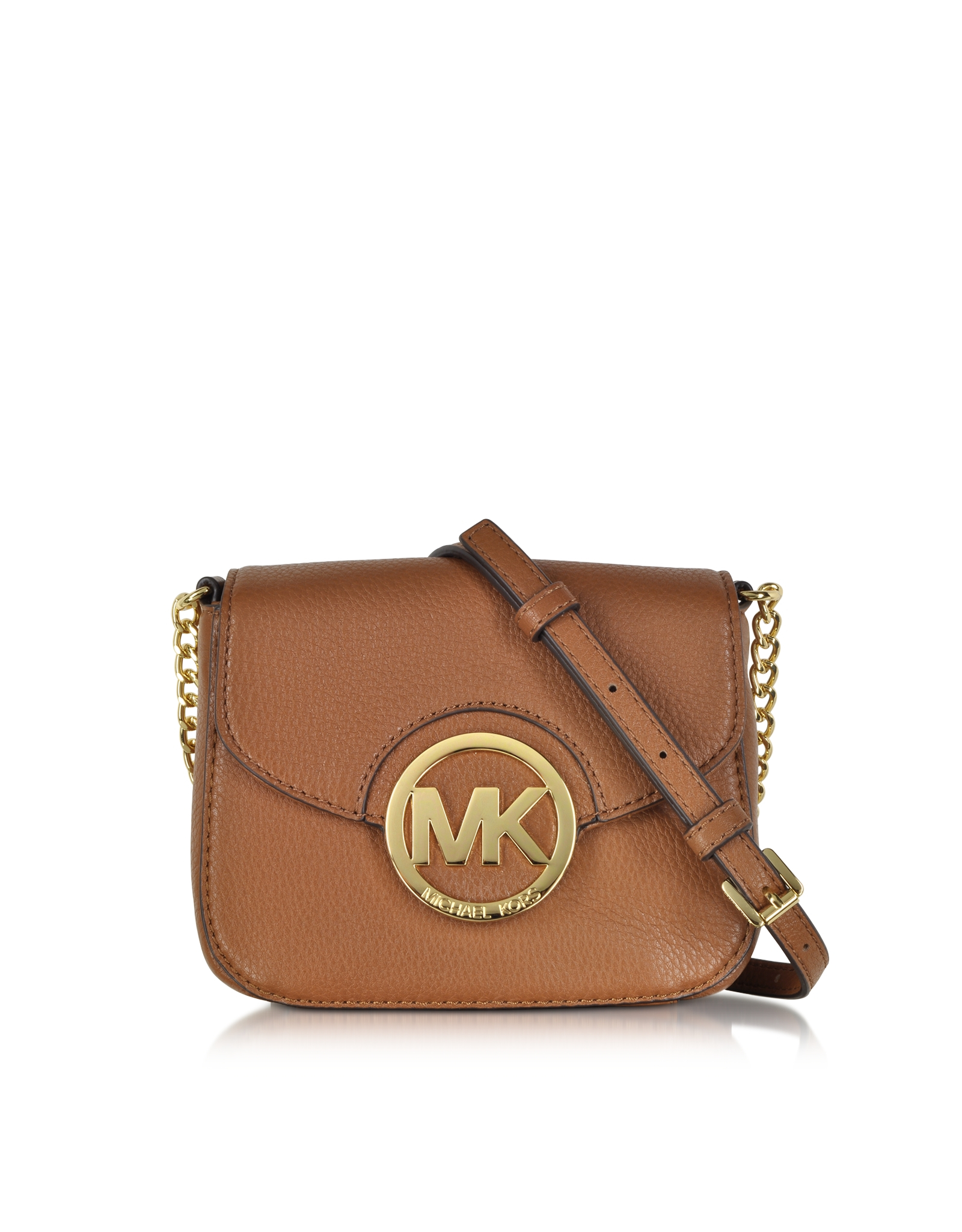 Michael Kors Fulton Luggage Leather Small Crossbody Bag In
