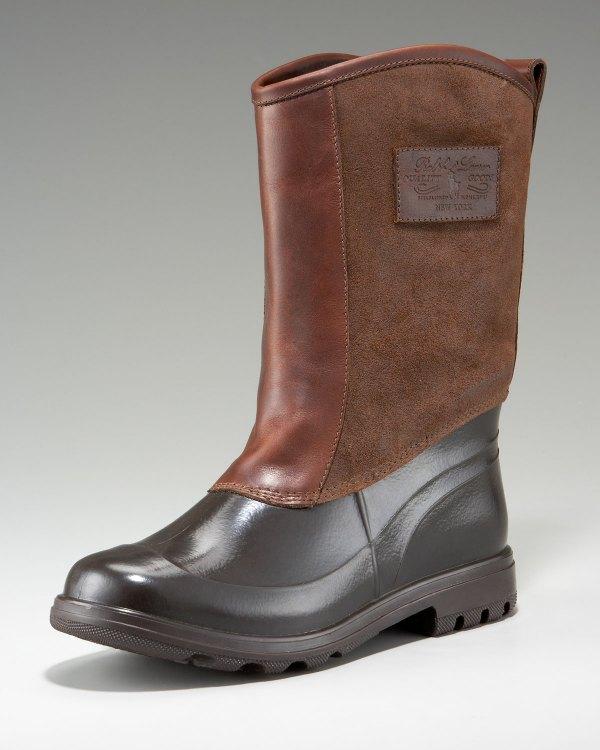 Ralph Lauren Warley Rain Boot In Brown Lyst