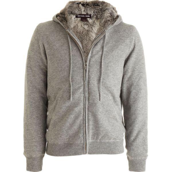 Michael Kors Fur-lined Hoodie In Gray Men Lyst