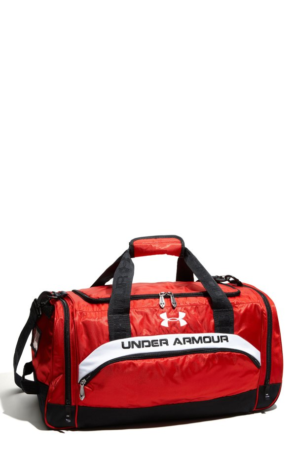 5bc3a22c4 Under Armour Victory Team Duffel Bag In Red Men Black White Lyst
