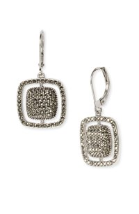 Judith Jack Sterling Silver & Marcasite Cushion Drop ...