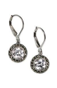 Judith Jack Marcasite & Cubic Zirconia Drop Earrings ...