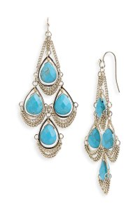 Kendra Scott Trista Stone Chandelier Earrings in Blue ...