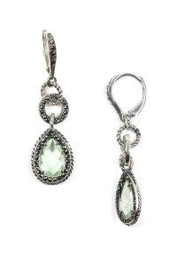 Judith Jack Charismatic Teardrop Earrings in Green ...