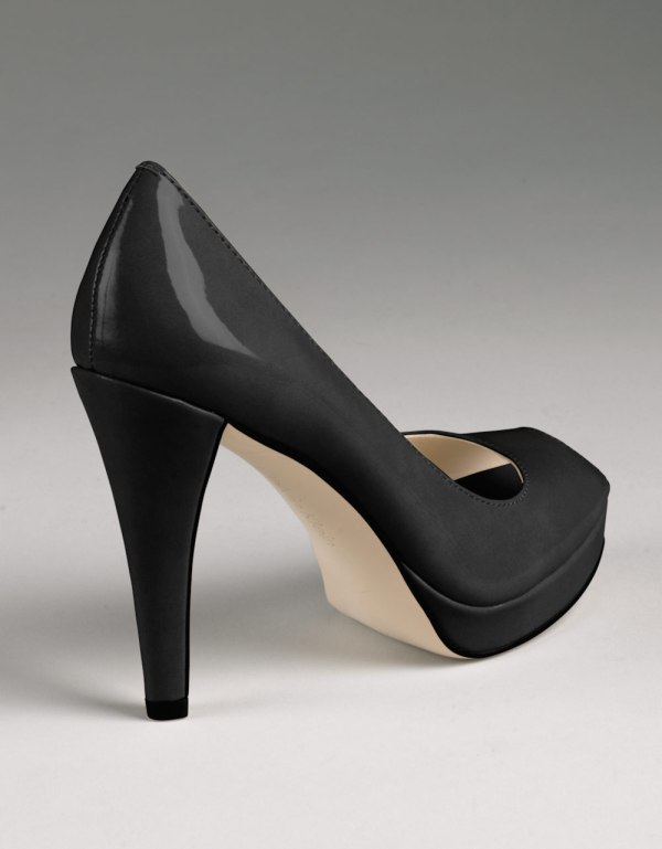 Calvin Klein Sandie Peep-toe Pumps In Black Lyst