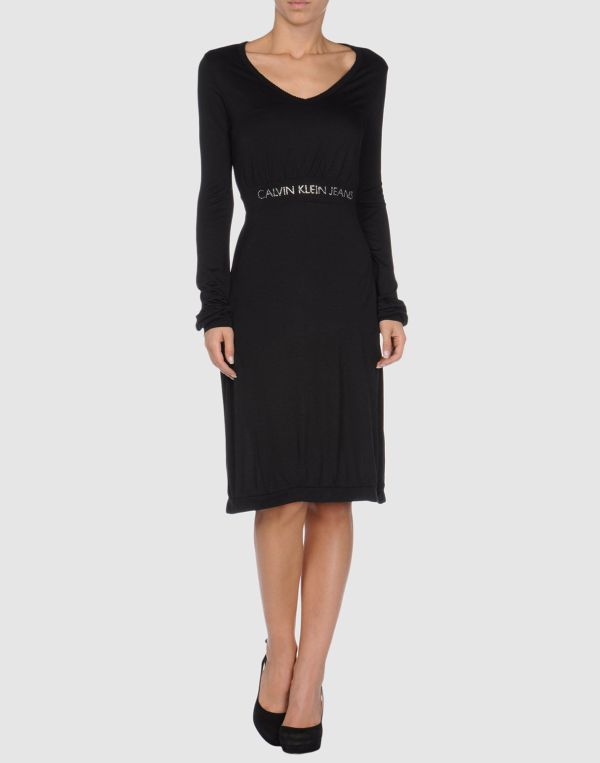 Calvin Klein Jeans Short Dresses In Black Lyst
