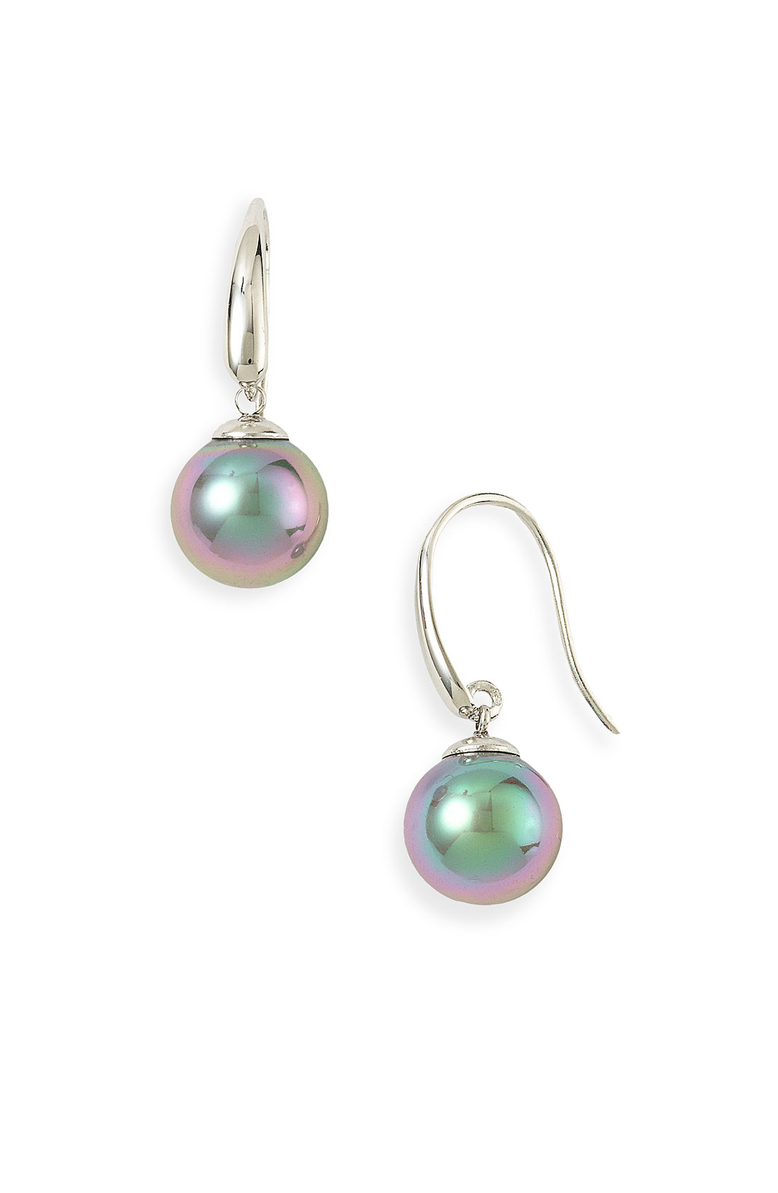 Majorica 10Mm Pearl Drop Earrings in Gray (tahitian pearl