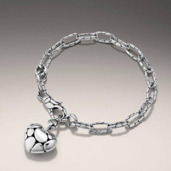 Lyst - John Hardy Link Bracelet With Heart Charm In Metallic